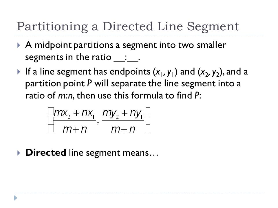 how to find the ratio of a line segment