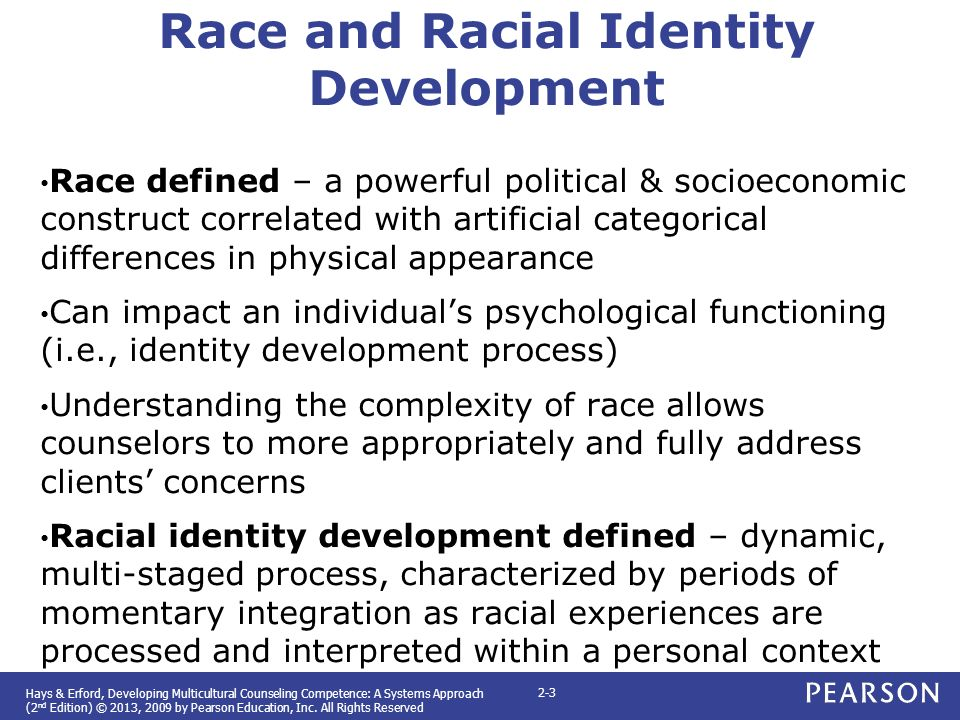 Biracial and multiracial identity development