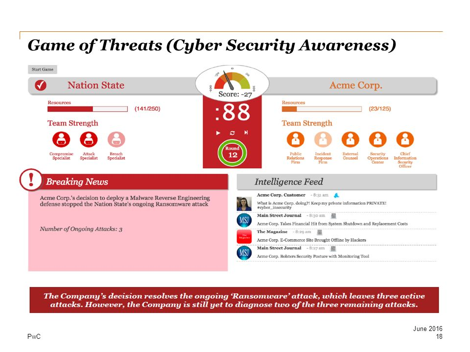 Game of Threats (Cyber Security Awareness)