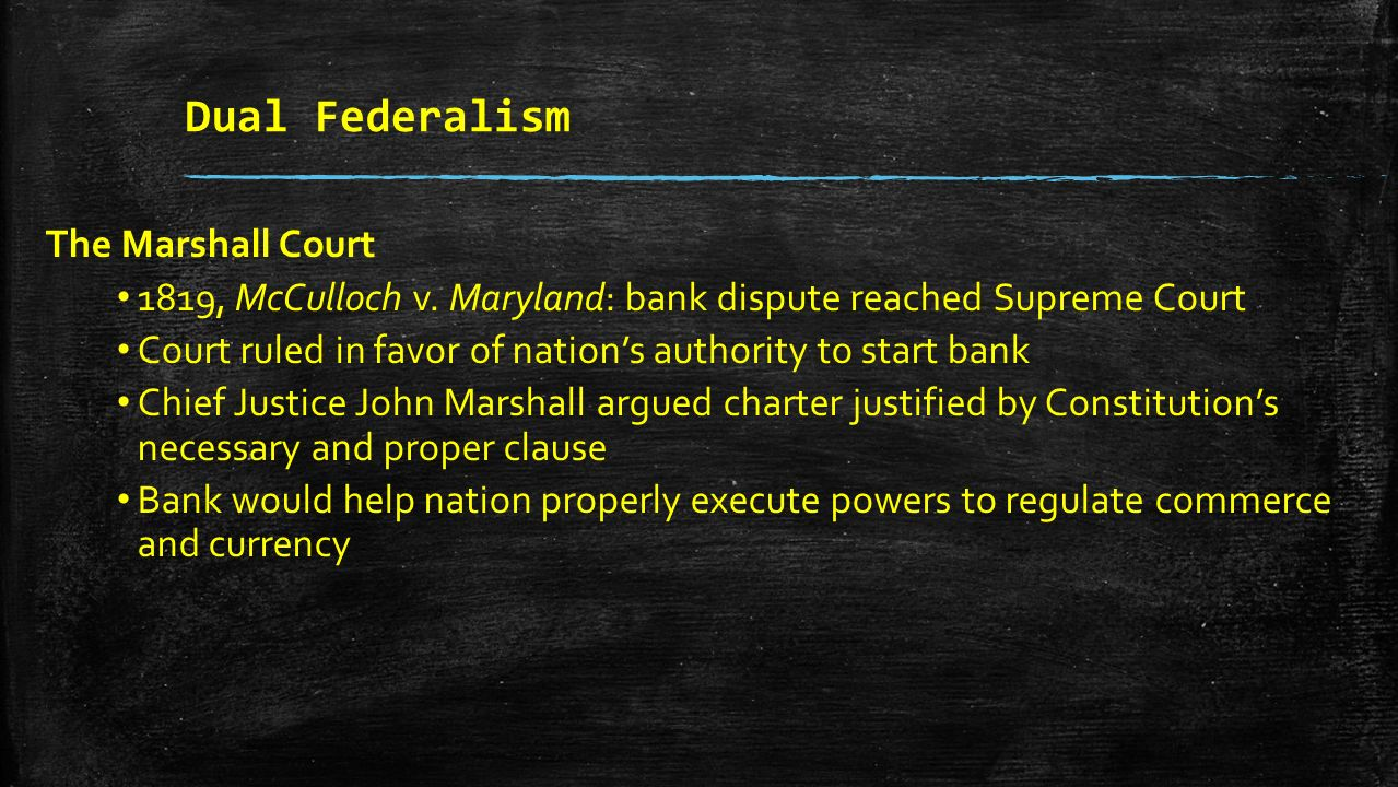 an analysis of the case of mcculloch v maryland in the united states supreme court Mcculloch v maryland essays the case of mcculloch v maryland was brought to the united states supreme court in 1819 the decisions of chief justice john marshall in this case would set precedence for all future cases involving the expansion of federal power and any impediment on federal po.