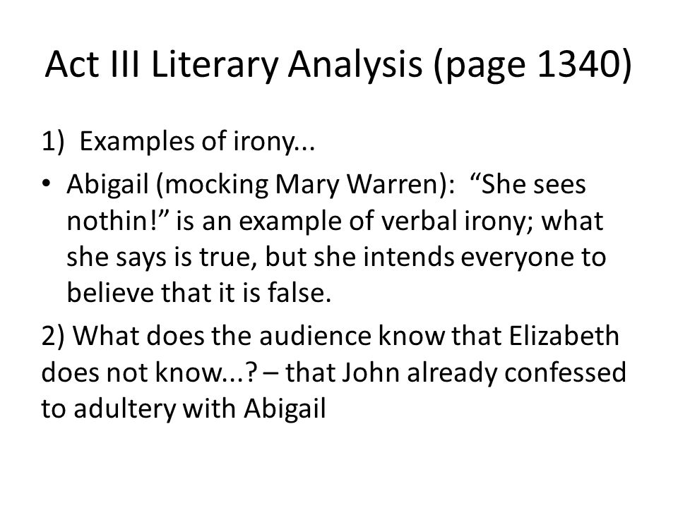 an introduction to the literary analysis of abigail An accessible and thorough introduction to literary theory and contemporary critical practice, this book is an essential resource for beginning students of literary criticism examples of formalist critical analysis 7 things to look for in literary and cultural texts 18 2 structuralism 19.
