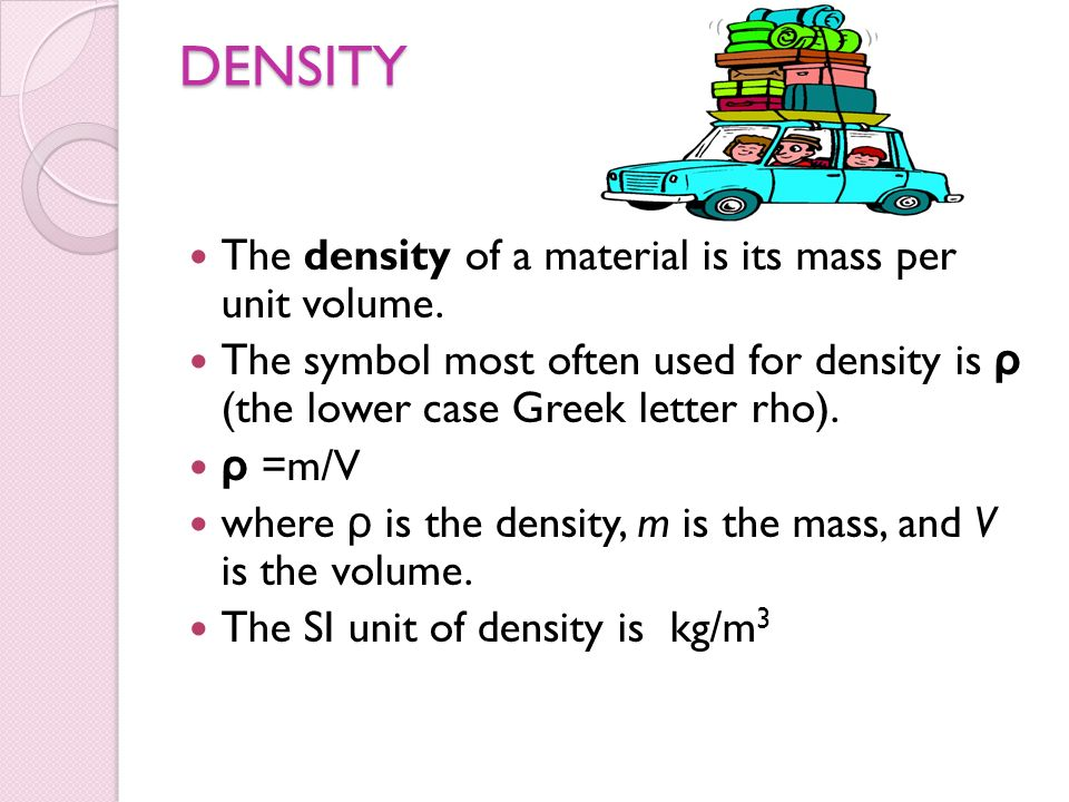 What Greek Letter Is Used For Density