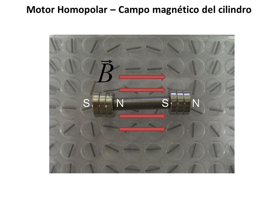 Motor Homopolar – Campo magnético del cilindro