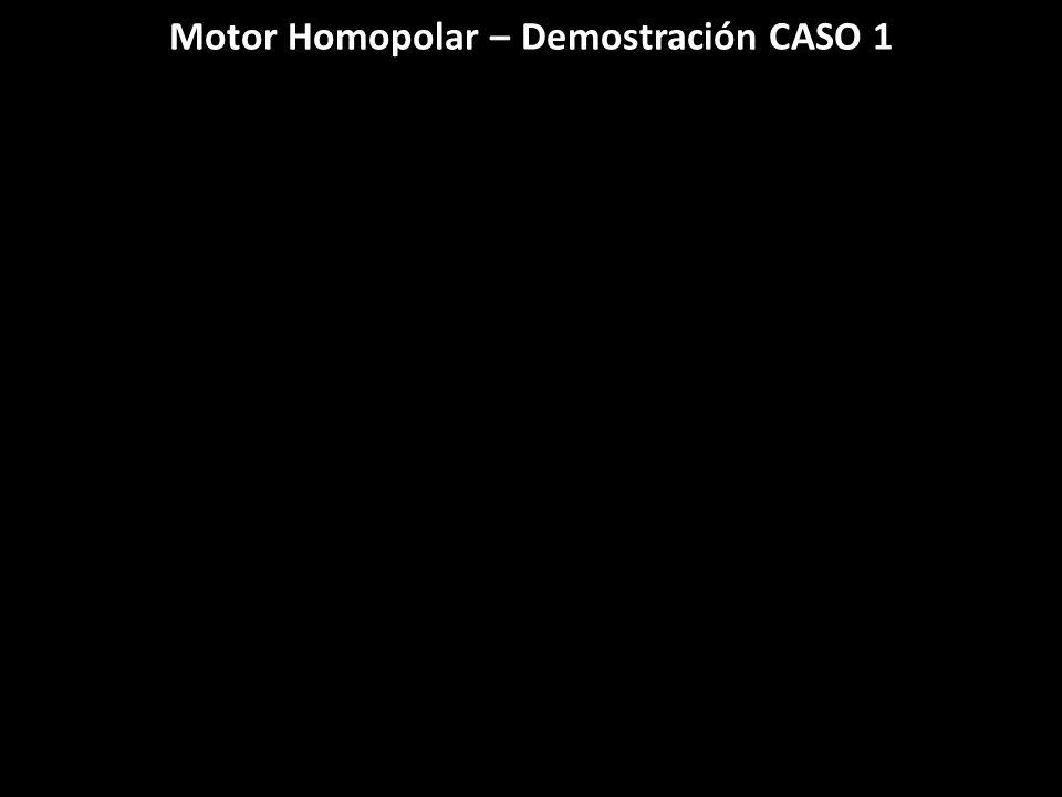 Motor Homopolar – Demostración CASO 1