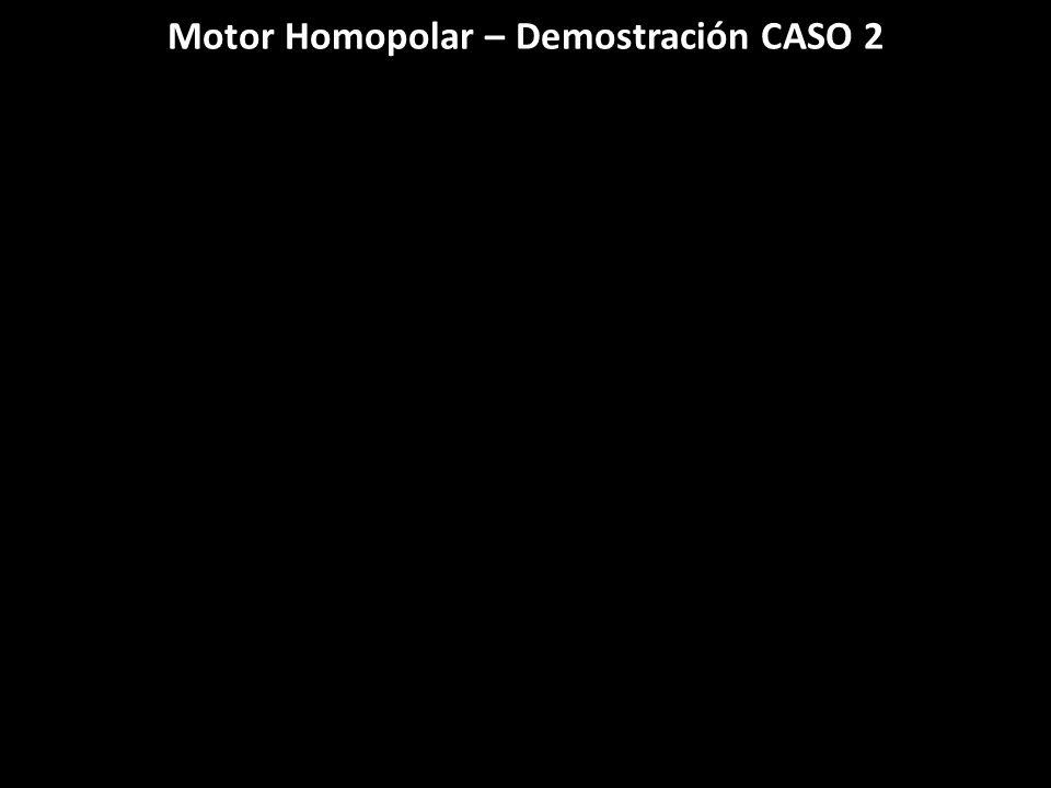 Motor Homopolar – Demostración CASO 2