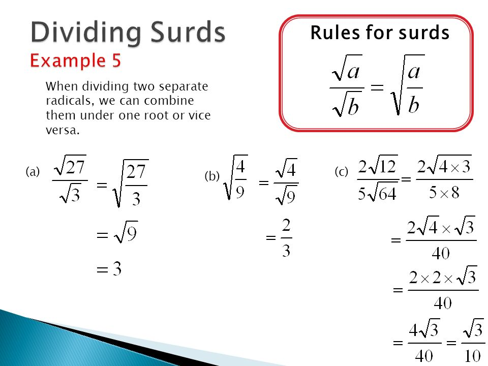 how to add fractions with surds