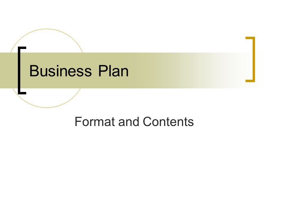 Business Plan Format and Contents ppt video online download – Business Plan Format