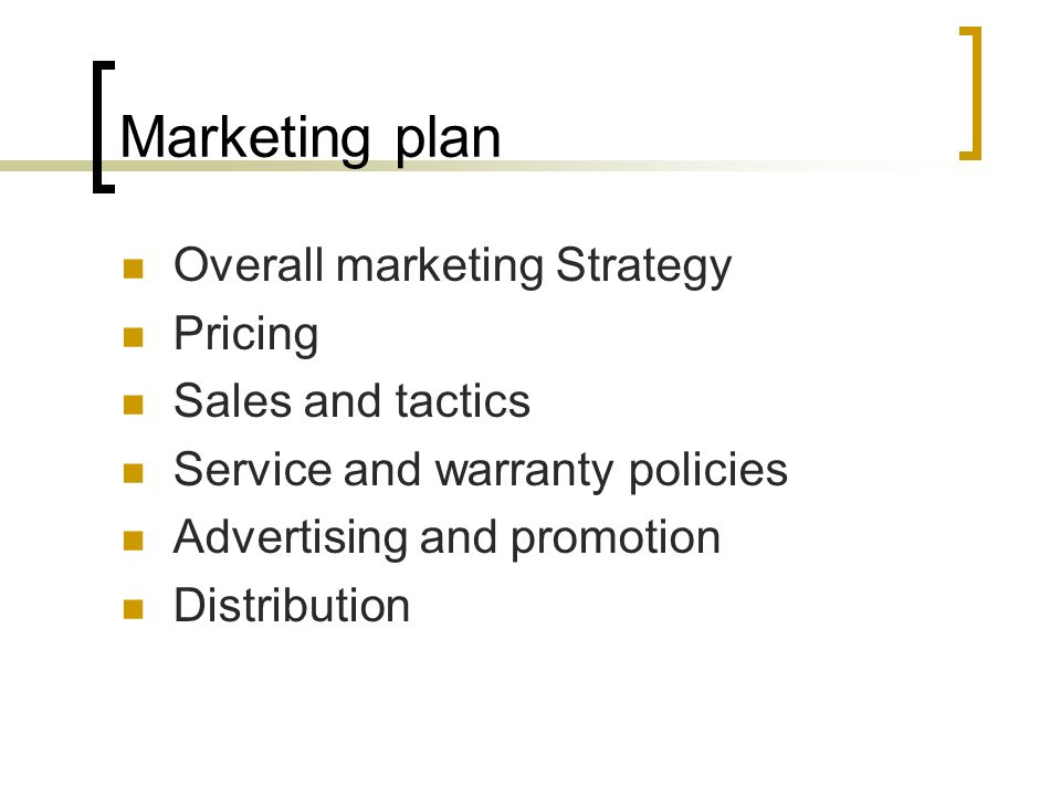 Business plan format and contents ppt video online download for Sales marketing tactics