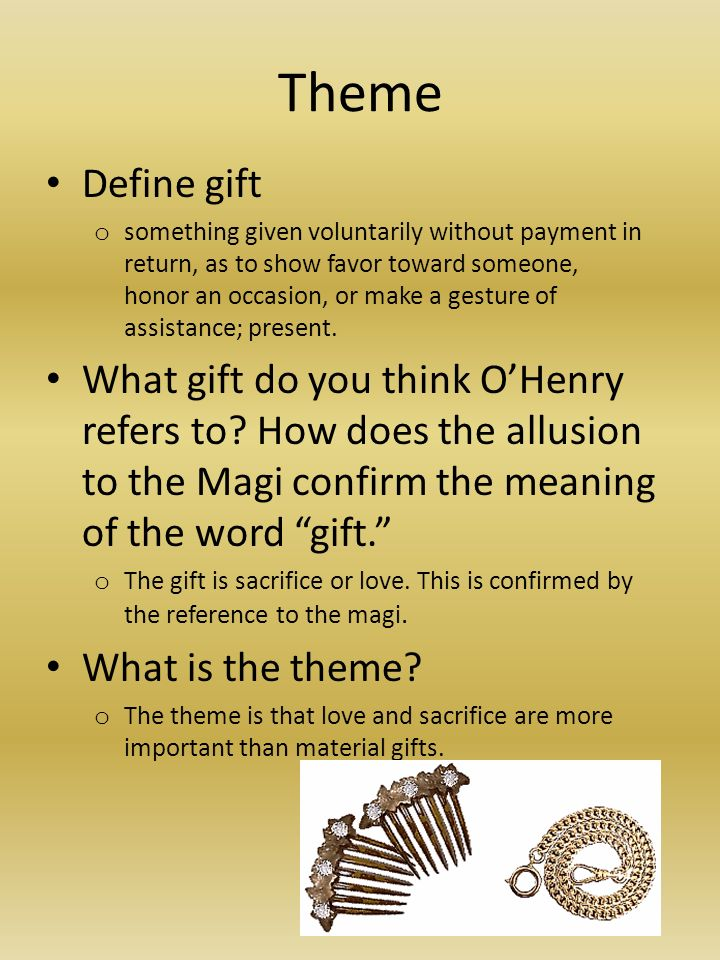 an analysis of the religious connotations in the story the gift of magi O henry gift of magi uploaded by kainat tufail the gift of the magi story pyramid: most good stories start with a fundamental list of ingredients: the initial.