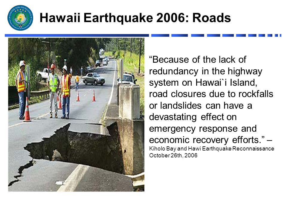 hawaii earthquake 2006 instance study