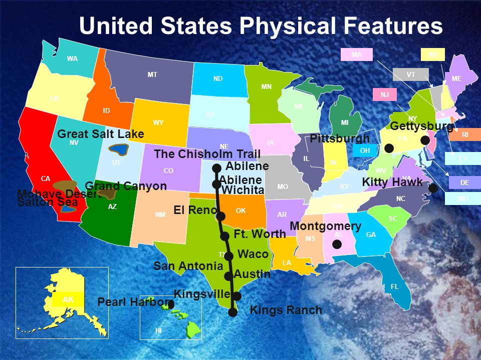 United States Features Ppt Video Online Download - Physical characteristics of the united states