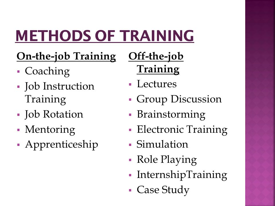 TRAINING METHODS - Virginia Commonwealth University