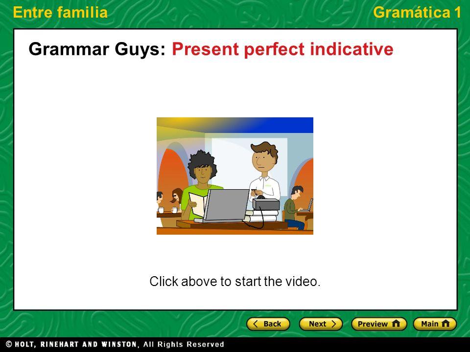 Grammar Guys: Present perfect indicative