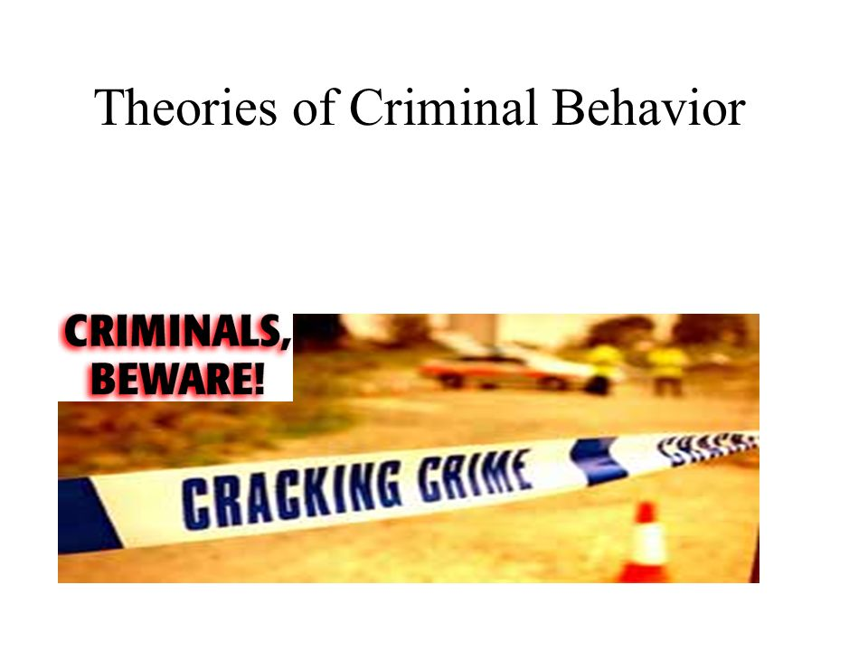 psychological theories for criminal behaviour Biological theories purport, that criminal behavior is caused by some flaw in individual's biological makeup according to raine study, the causes may be heredity, neurotransmitter dysfunction and brain abnormalities, which could be caused either by the first two or trauma.