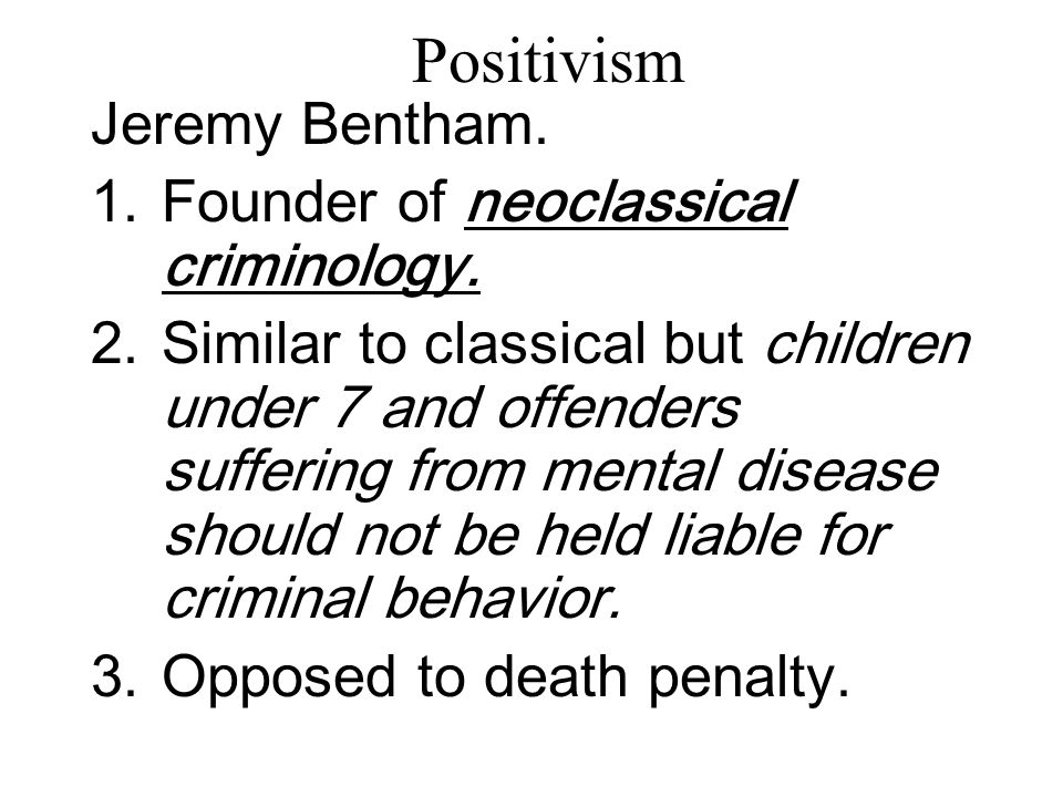 jeremy bentham criminal justice Start studying chapter 2 notes learn vocabulary, terms, and more with flashcards, games our criminal justice system (as well as virtually all western countries) jeremy bentham (1748 - 1832.