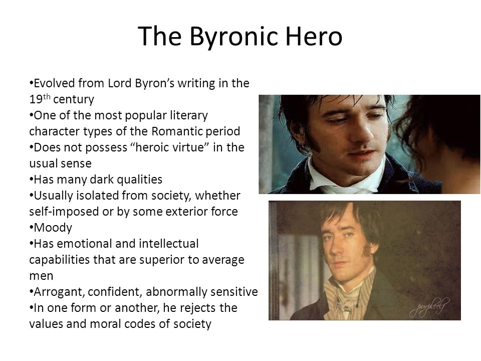 frankenstein byronic hero Byronic hero for their own poems, plays, and novels, as did mary shelley in novel frankenstein  engl404 - byronic heroism - finaldocx.