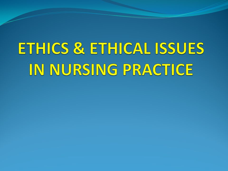 Ethical implications in practice