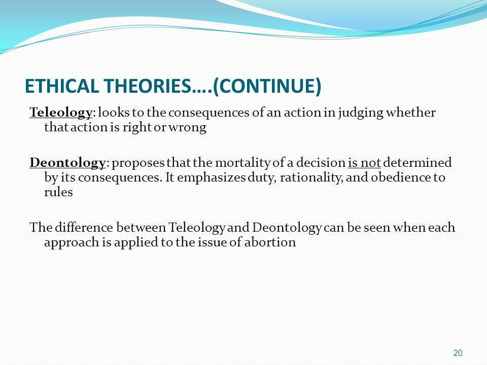 the difference between teleological and deontological The teleological ethical system is the opposite of the deontological system   most people will simply look in the dictionary or use something else equally  simplistic  when comparing the similarities and differences between virtue  theory,.