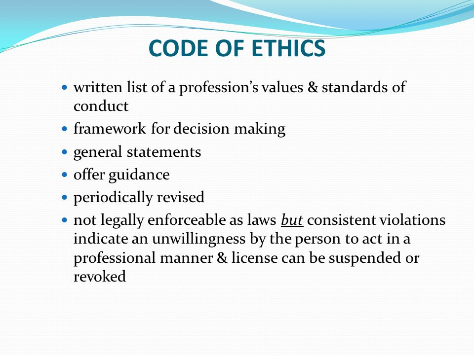 ethical decision making in the nursing profession Analysis to identify ethical issues encountered by military nurses during the  recent  codes of ethics also set up standards of professional.