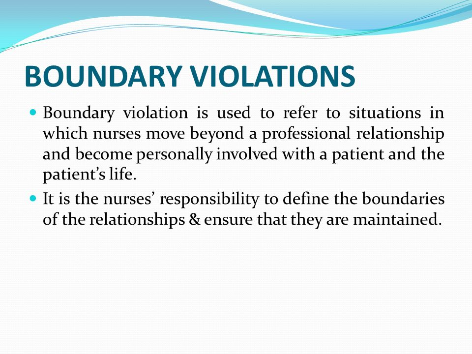 professional relationship and boundaries in nursing