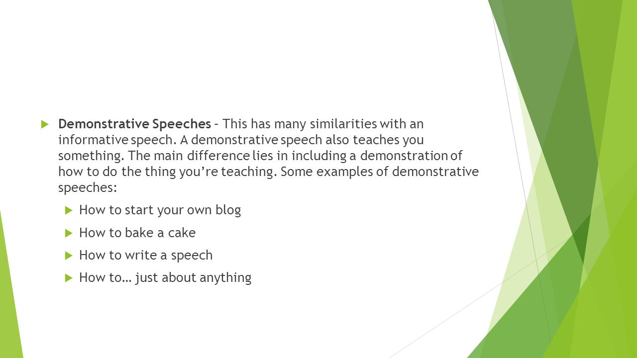 informative speech on how to bake a cake Attention getter for my speech on of how to make pineapple upside-down cake follow  5 answers 5  then bake a cake from a mix ( 99 mix) once cooled .