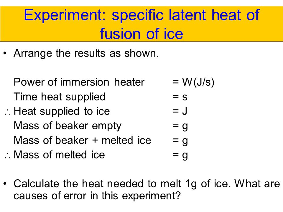 Specific heat, heat of vaporization, and density of water