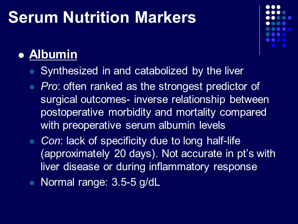 relationship between prealbumin and albumin