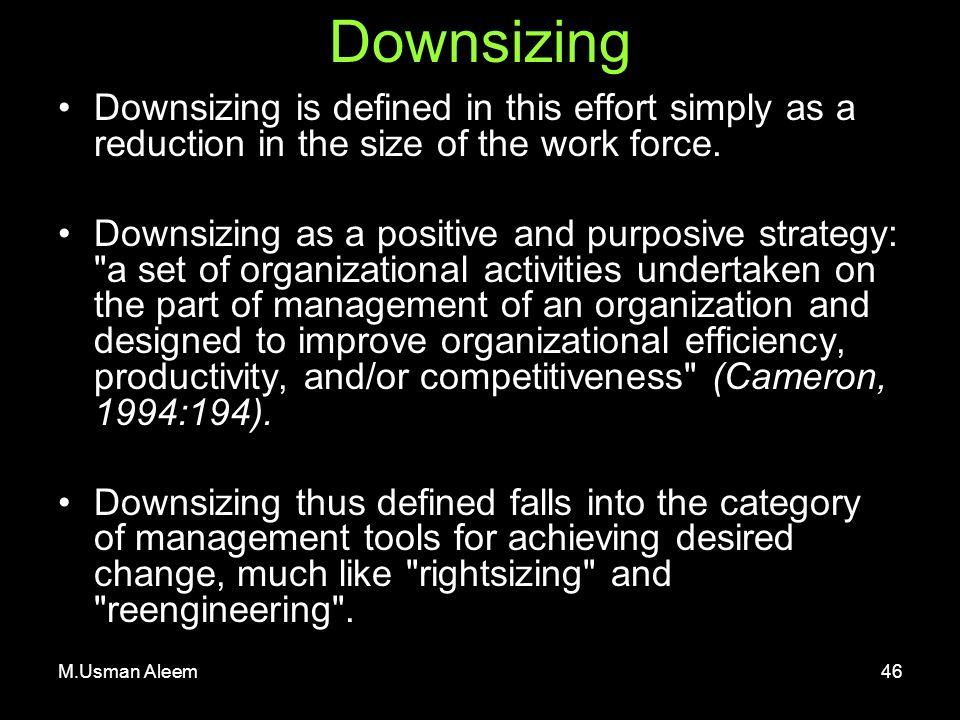 strategies for successful organizational downsizing pdf