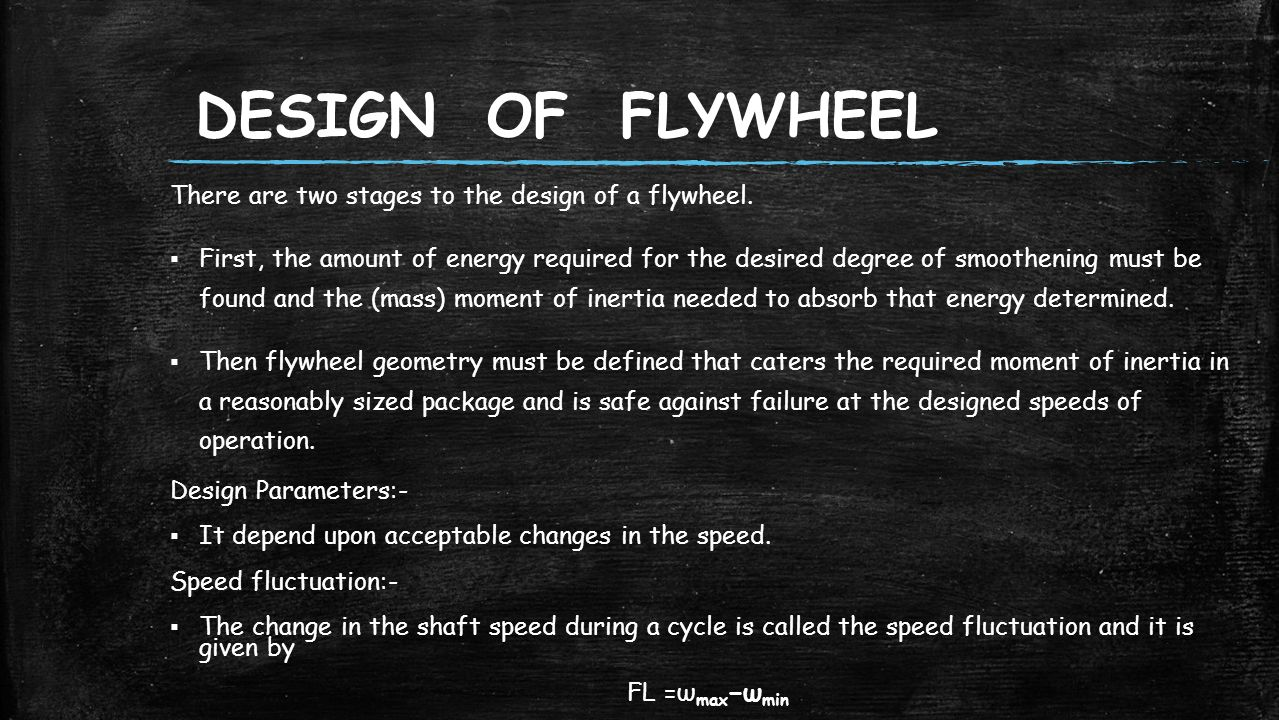 Measurement of the moment of inertia of a flywheel