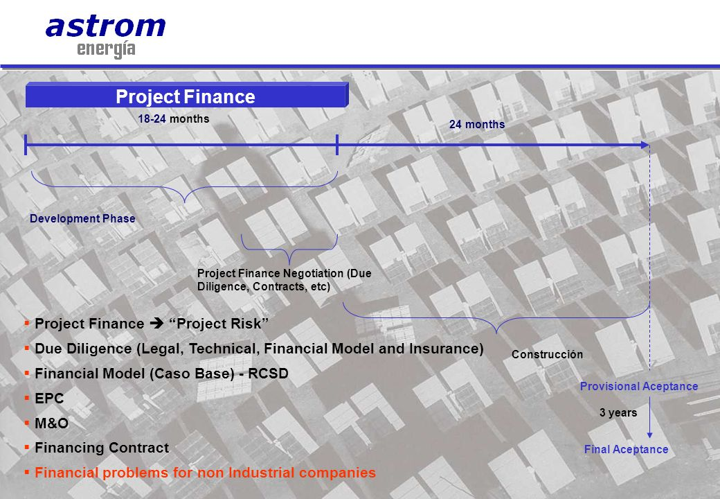 Project Finance Project Finance  Project Risk