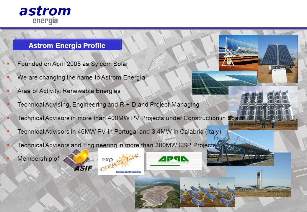 Astrom Energía Profile