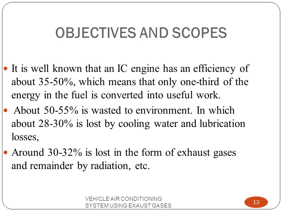 OBJECTIVES AND SCOPES