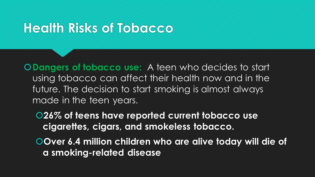 E-Cigarettes and Young People: A Public Health Concern