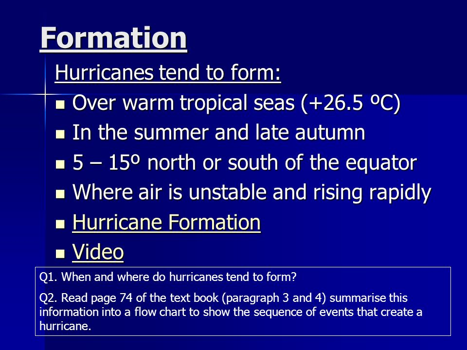 the formation of hurricanes essay