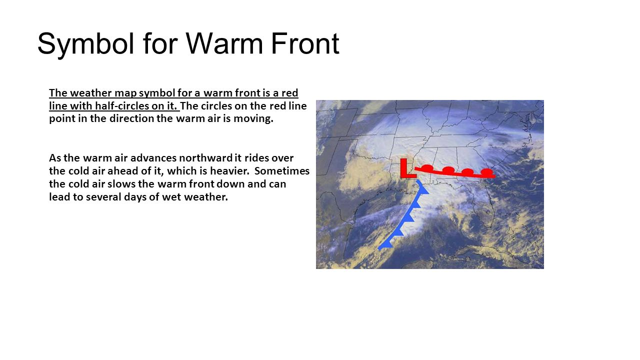 High vs low high pressure areas are generally larger and move symbol for warm front biocorpaavc Images
