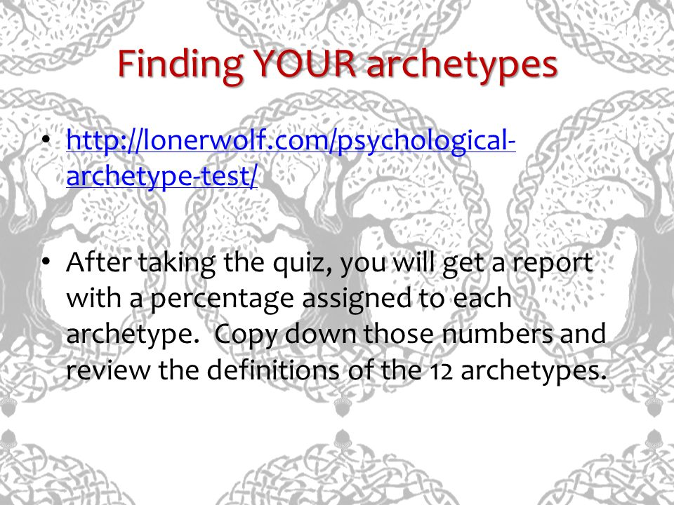 Finding YOUR archetypes