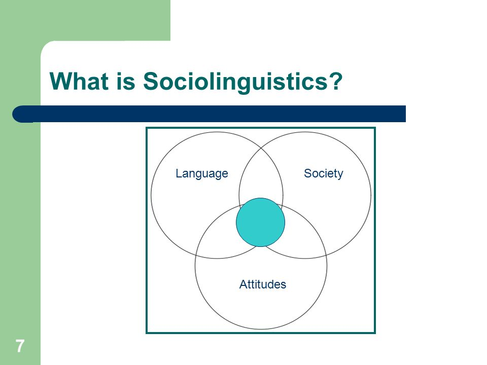 what is sociolinguistics Computational sociolinguistics is a fairly new field that lies at the intersection of  two other, more established fields: computational linguistics and.