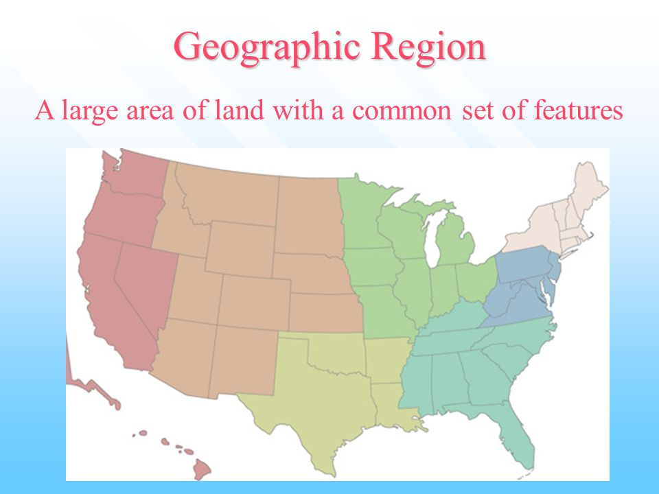geographic features of a region has At the broadest level, geography is divided into physical geography, human geography, geographic techniques, and regional geography physical geography the natural environment is the primary concern of physical geographers, although many physical geographers also look at how humans have altered natural systems.
