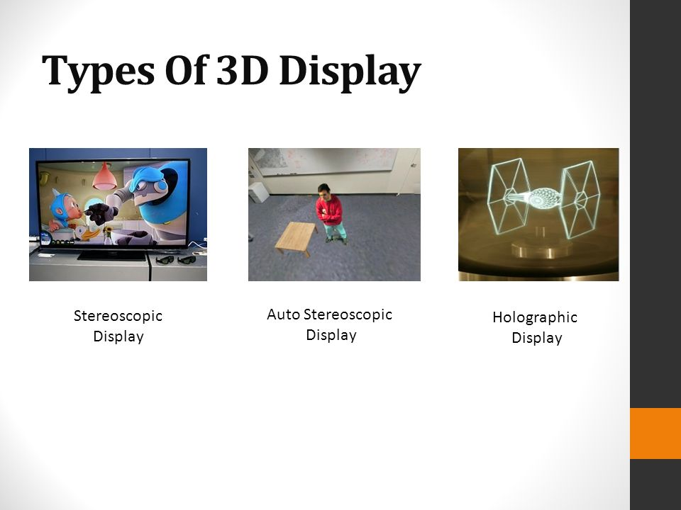Types Of Exhibition Displays : D display techniques ppt video online download