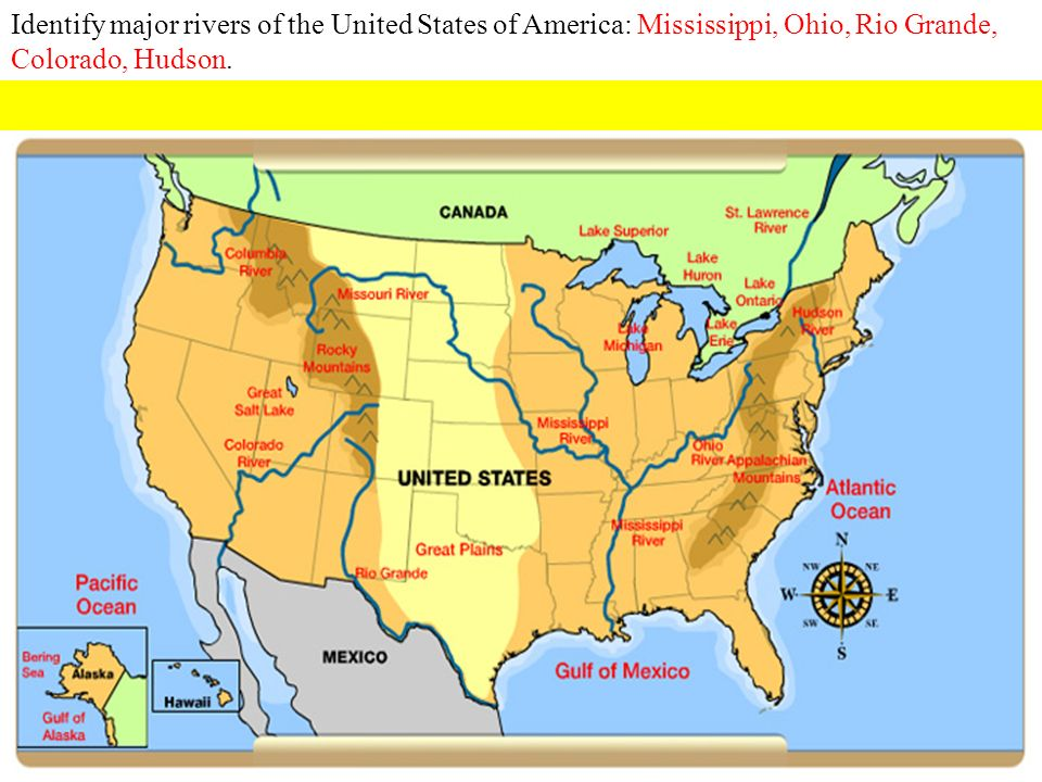 Milestones Social Studies Ppt Download - Map of major rivers in the united states