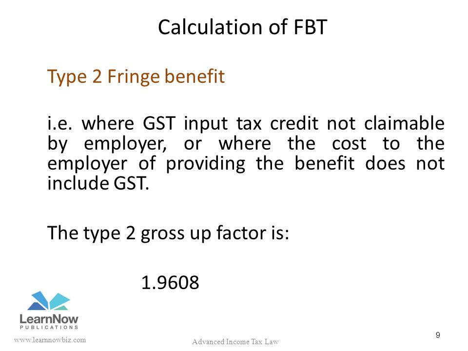Calculation of Fringe Benefit Tax in SAP - SAP Q&A