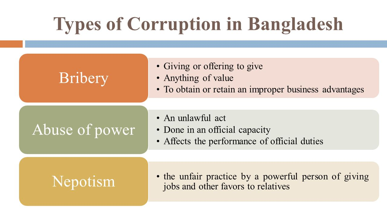 Types of Business Corruption