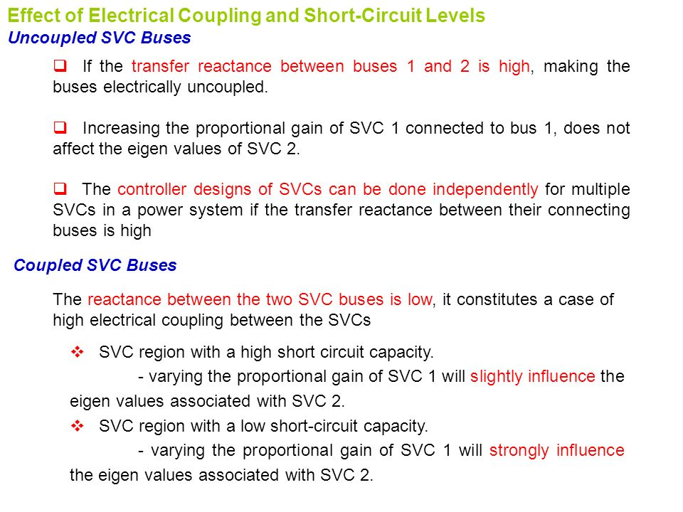 Effect of Electrical Coupling and Short-Circuit Levels