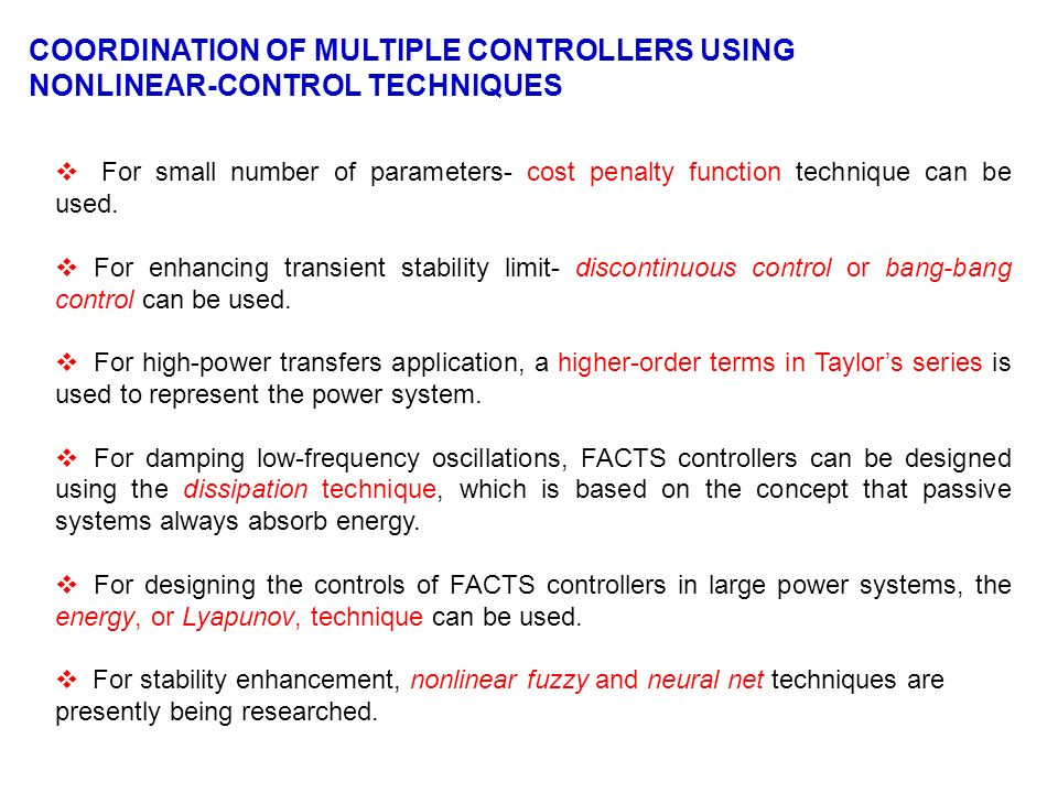 COORDINATION OF MULTIPLE CONTROLLERS USING