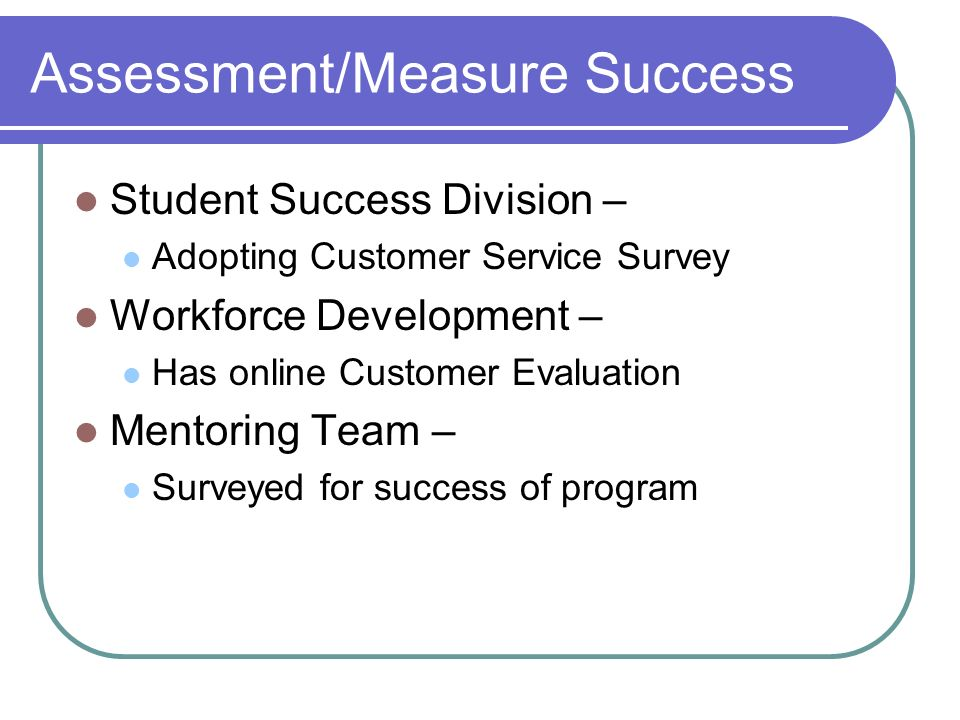 measured success writing assessment