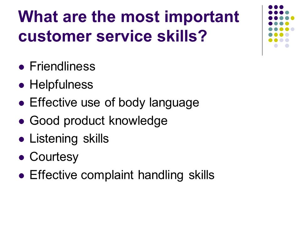 what are customer service skills