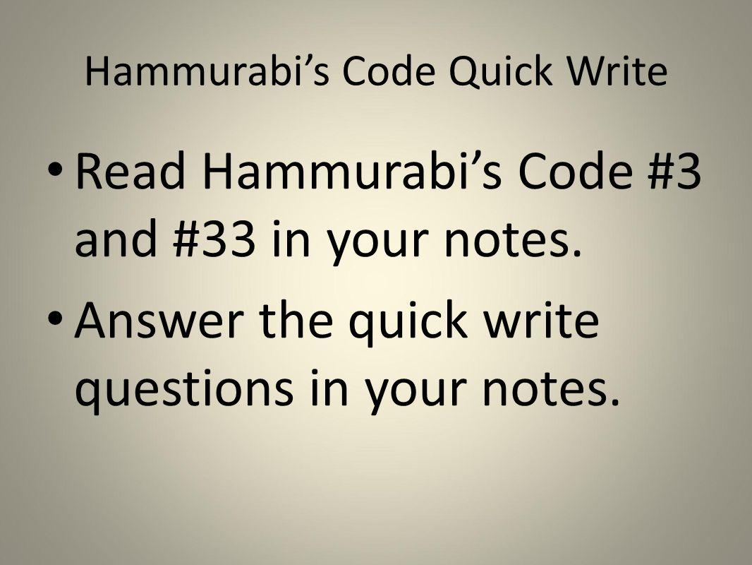 hammurabi questions