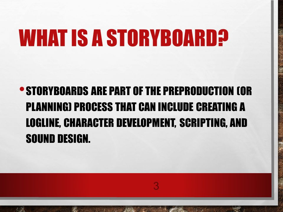 What Is Storyboard The Storyboard Helps You Detail These Actions