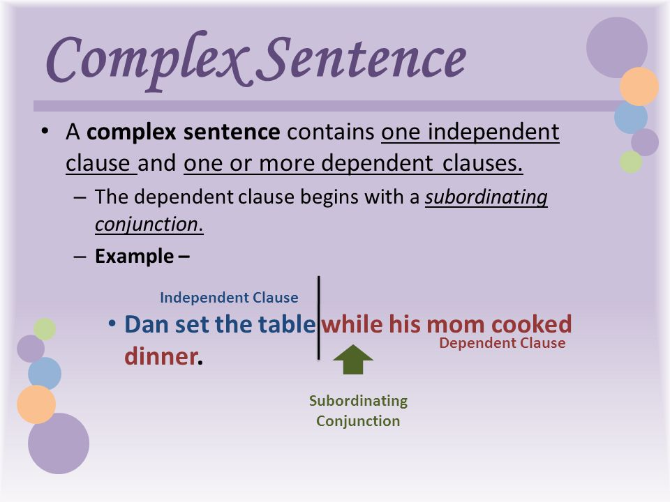 simple compound and complex sentences examples pdf