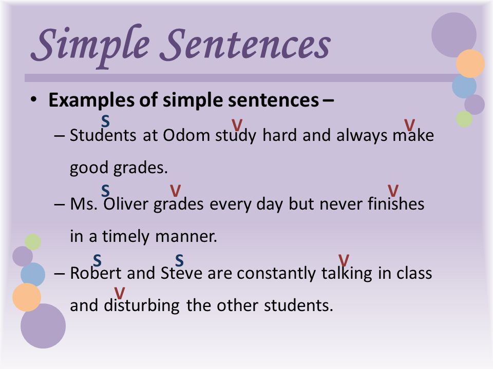 Types of sentences practice (key) simple, compound, complex.